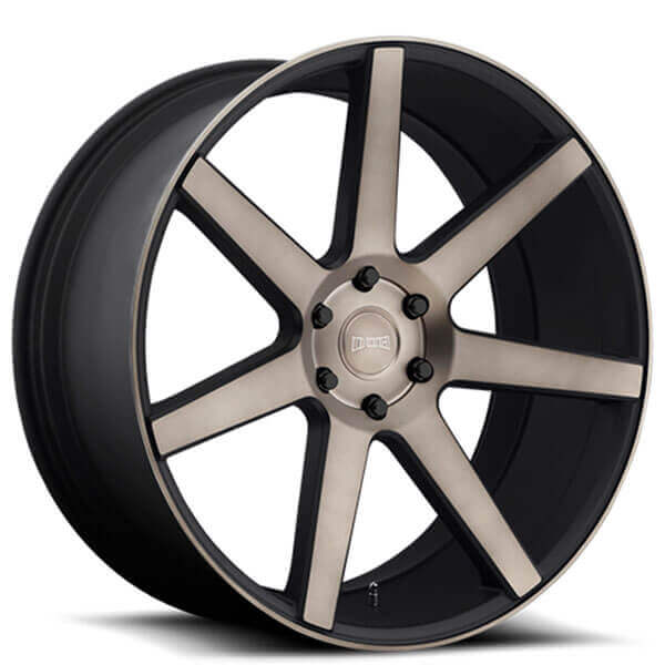 "24"" Dub Wheels Future S127 Black Machined with Dark Tint Rims"