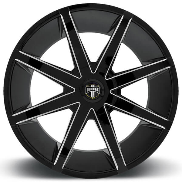 "22"" Dub Wheels Push S109 Black Milled Rims"