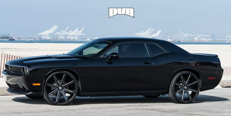 "24"" Dub Wheels Push S109 Black Milled Rims"