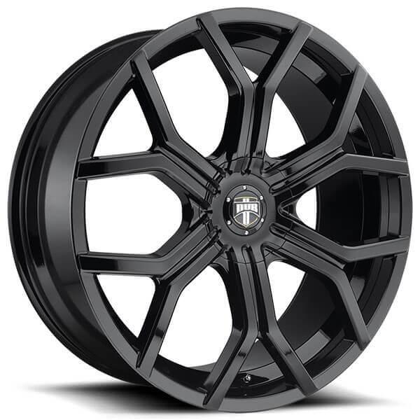 "Black Wheels Dub Alloys: 24"" Dub Wheels Royalty S208 Gloss Black Rims #DUB076-2"