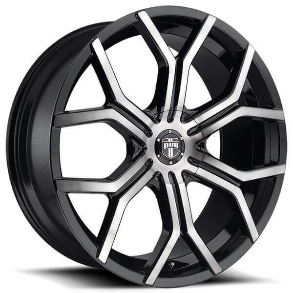 "Black Wheels Dub Alloys: 22"" Dub Wheels Royalty S209 Matte Black Machined With Dark"