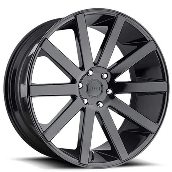 "22"" Dub Wheels Shot Calla S219 Gloss Black Rims"