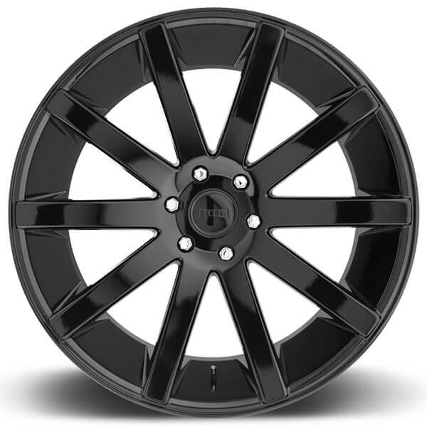 "24"" Dub Wheels Shot Calla S219 Gloss Black Rims"
