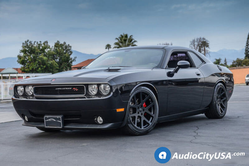 Dodge Challenger Rt Srt Wheels Satin Black Viper Audiocityusa
