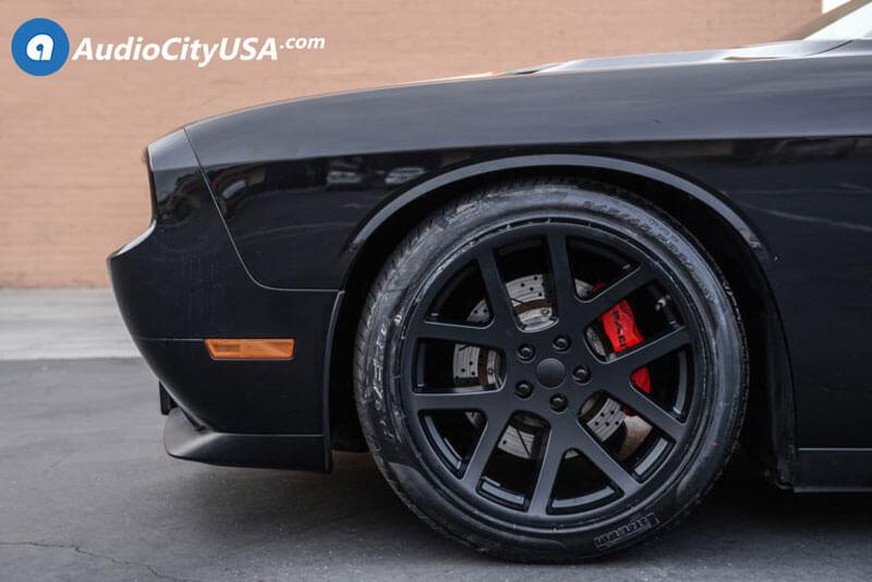 Dodge Challenger Rt Srt Wheels Satin Black Viper Audiocityusa