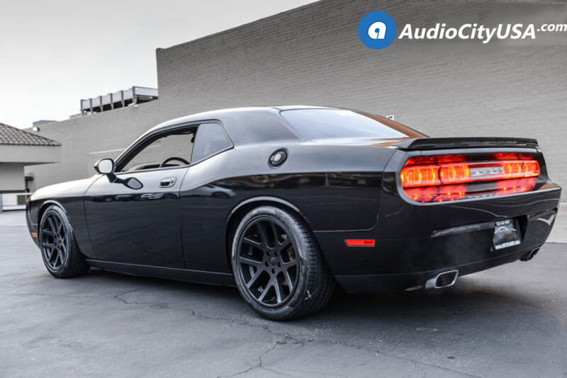 "Dodge Challenger 1980 >> 22"" Staggered Dodge LX Viper Wheels Satin Black OEM Replica Rims #OEM191-4"