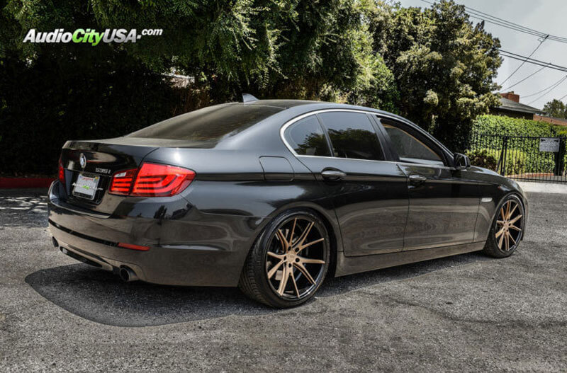 "20"" Staggered Element Wheels EL36 Gloss Black with Matte Bronze Face Deep Concave Rims"