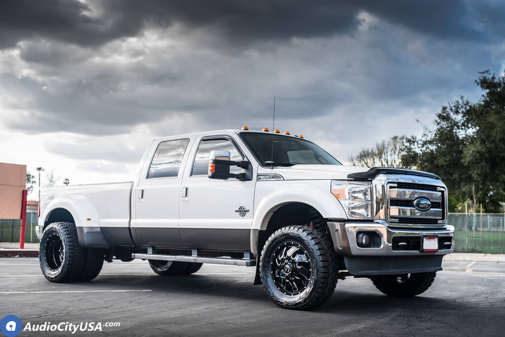 """20"""" Fuel Wheels D574 Cleaver Dually Gloss Black Milled Off ..."""