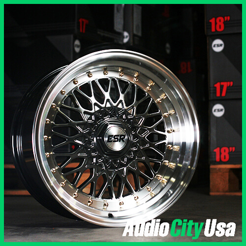 17 Quot Esr Wheels Sr03 Hyper Black Jdm Style Rims Esr020 3