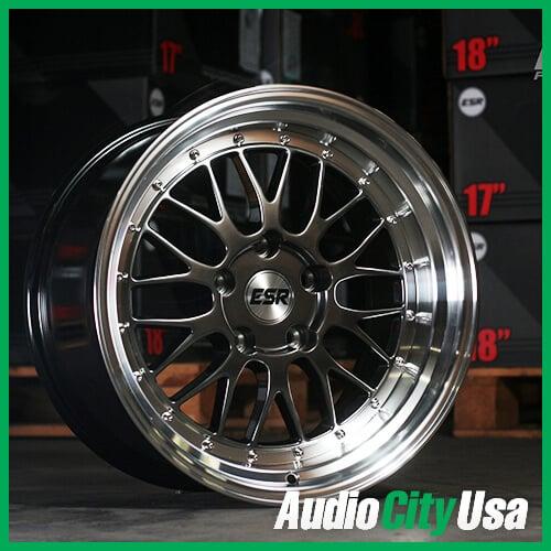 "Mazda 3 Factory Rims >> 17"" ESR Wheels SR05 Hyper Black JDM Style Rims #ESR023-3"
