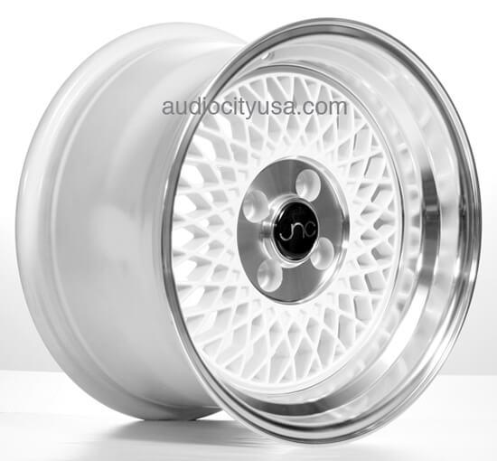 15 16 inch JNC Wheels Rims JNC031 White/Polish JDM Style # ...