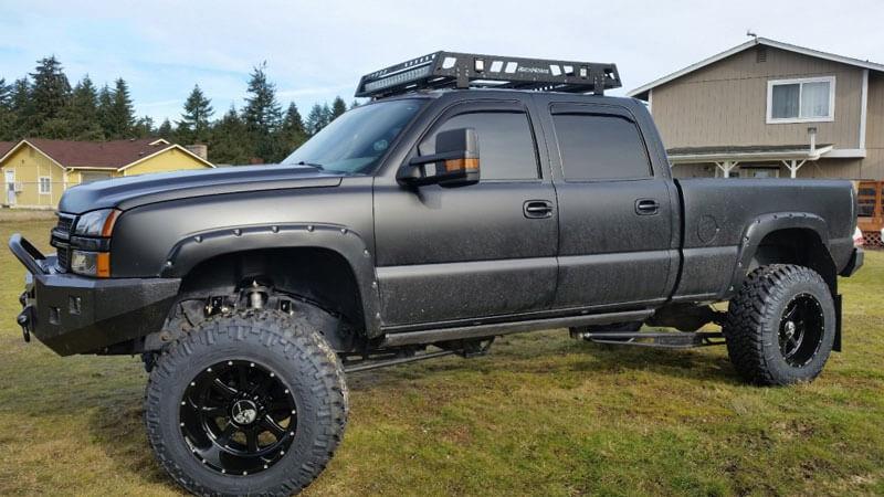"""20"""" Hostile Wheels H105 Exile Satin Black Off-Road Rims # ..."""