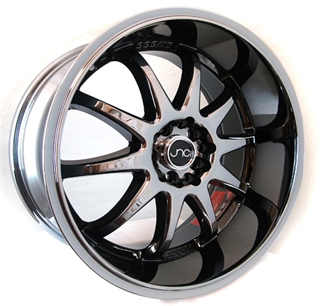 18 Quot Jnc Wheels Rims 019 Black Chrome Jdm Style G006
