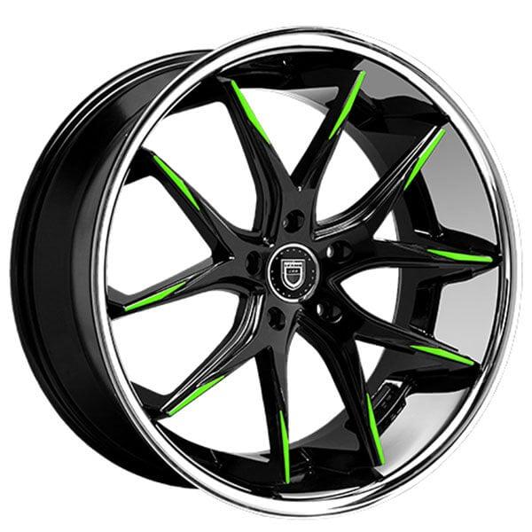 "22"" Staggered Lexani Wheels R-Twelve Custom Finish Rims"