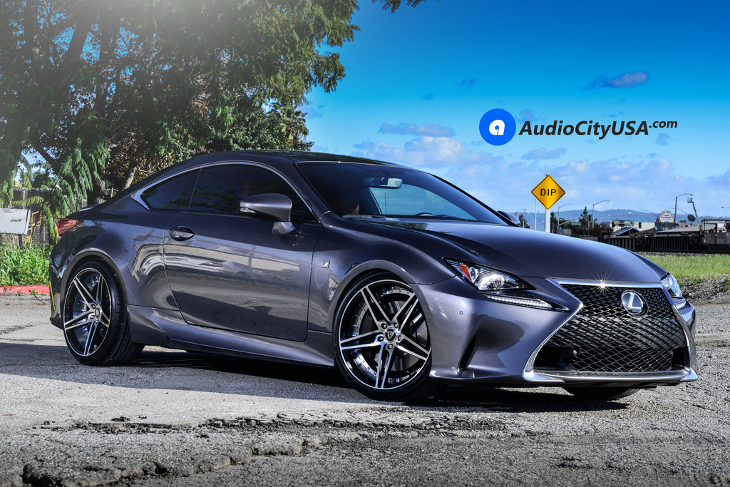 Lexus Rc T Mq Wheels Black Machine F Sport Audiocityusa