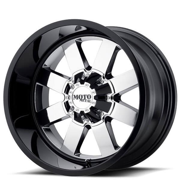 22 Quot Moto Metal Wheels Mo962 Chrome With Black Lip Off Road