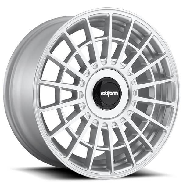 """18"""" Rotiform Wheels R143 LAS-R Gloss Silver Rims"""