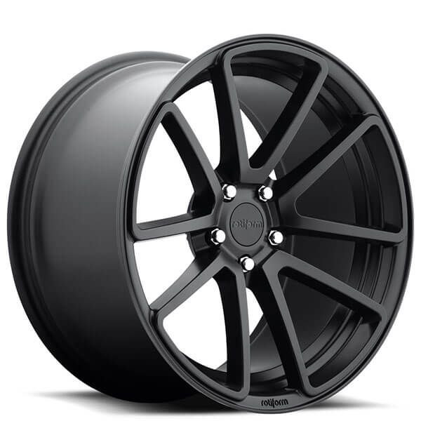 "19"" Rotiform Wheels R122 SPF Matte Black Rims"