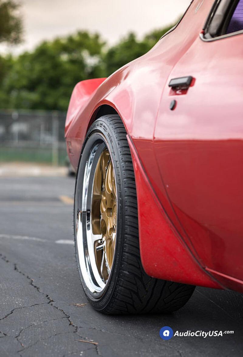 wheels rennen rims gold chrome csl lip step trans pontiac am staggered firebird 1979 face audiocityusa fitment