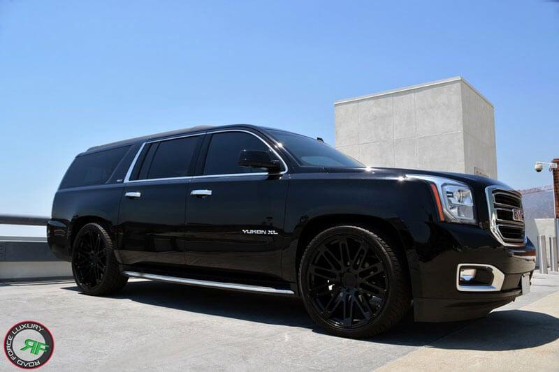 24 Quot Road Force Wheels Rf24 Gloss Black Rims For G Wagon
