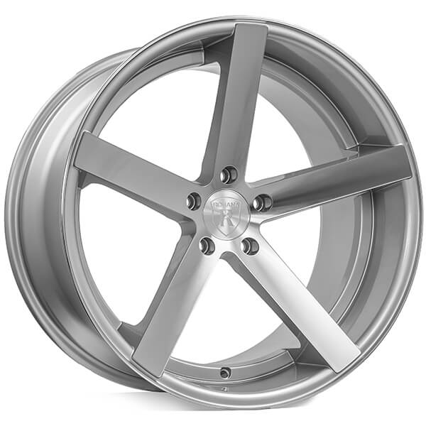 """20"""" Staggered Rohana Wheels RC22 Machined Silver Rims"""