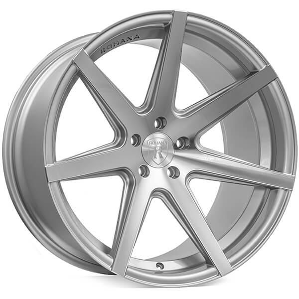 "19"" Rohana Wheels RC7 Machined Silver Rims"