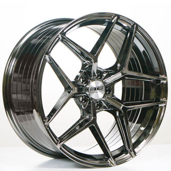 "20"" STR Wheels 908 Vapor Black Flow Forged Rims"