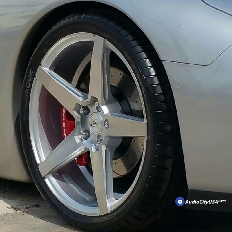 "20"" Savini Wheels Black Di Forza BM11 Brushed Silver Light Weight Rims"
