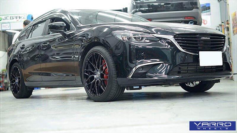 "19"" Varro Wheels VD06 Gloss Black Rims #VRR031-1"