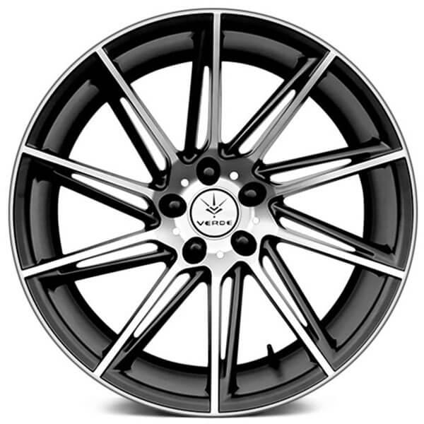 19 Verde Wheels V25 Quantum Satin Black Machined Rims Vd010 1