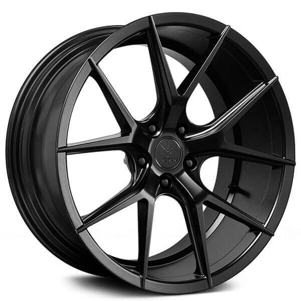 "20"" Staggered Verde Wheels V99 Axis Satin Black Rims"