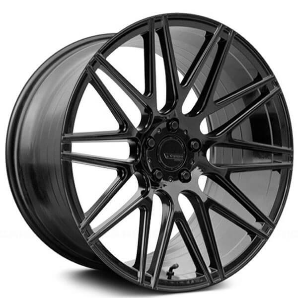 "20"" Staggered Verde Wheels VFF01 Gloss Black Rims"