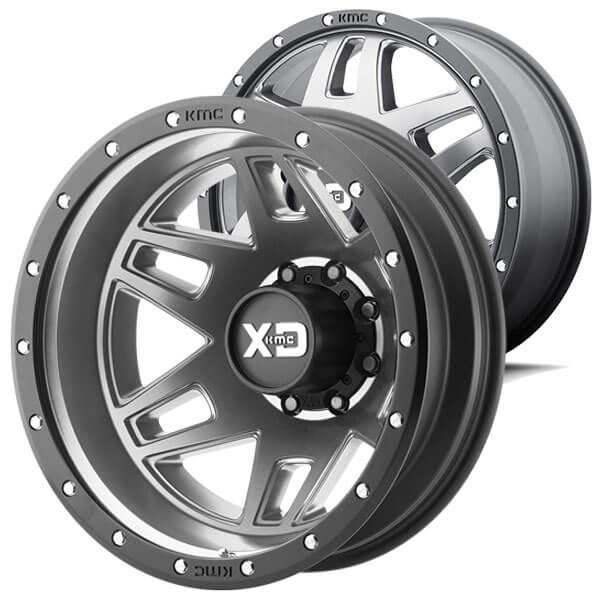 17 Quot Xd Wheels Xd130 Machete Dually Matte Gray With Black