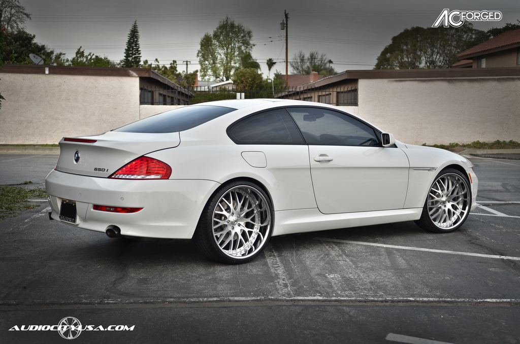 22inch AC Forged 313 brushed face chrome lip on BMW 650 i