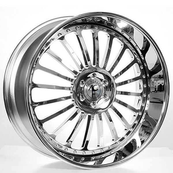 "24"" AC Forged Wheels Multi Chrome Three Piece Rims"
