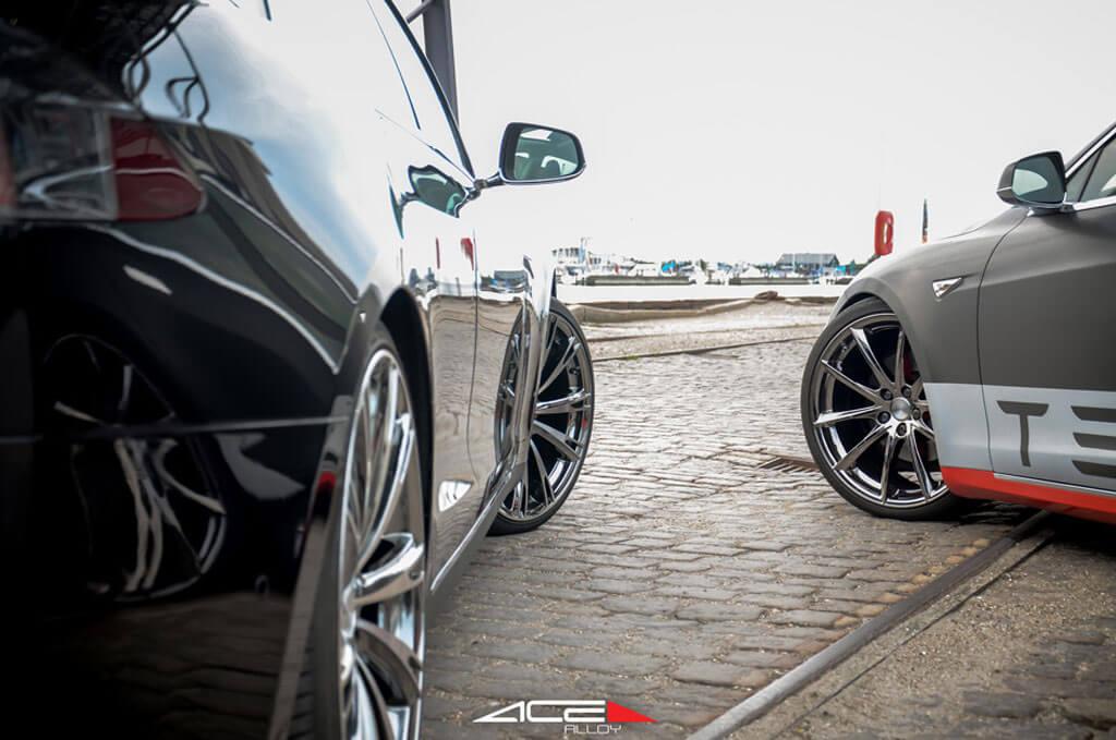 Acealloy Wheels Aspire Black Chrome With Machined Face Rims Audiocityusa