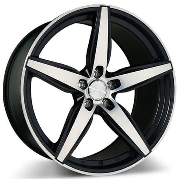 "19"" Ace Alloy Wheels Couture Matte Black with Machined Face Rims"