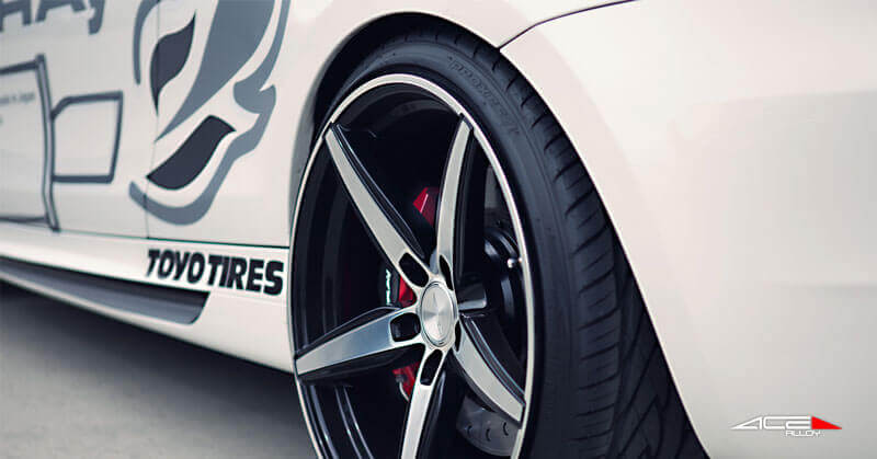 """20"""" Staggered Ace Alloy Wheels Couture Matte Black with Machined Face Rims"""