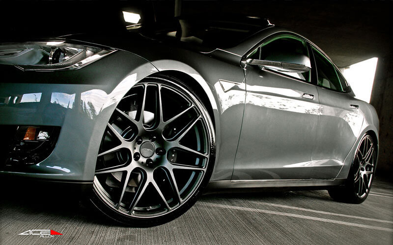 20 Quot Staggered Ace Alloy Wheels Mesh 7 Matte Mica Gray Rims