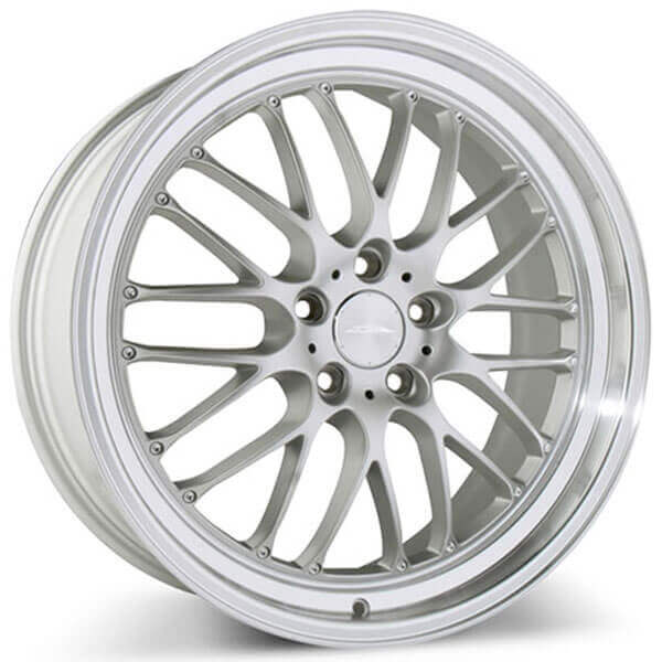 19 Staggered Ace Alloy Wheels Sl M Matte Silver With Diamond Cut