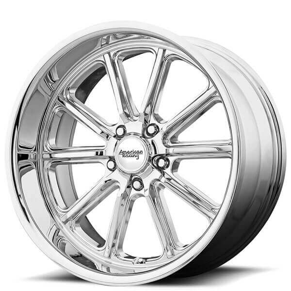 "20"" Staggered American Racing Wheels VN507 Rodder Chrome Rims"