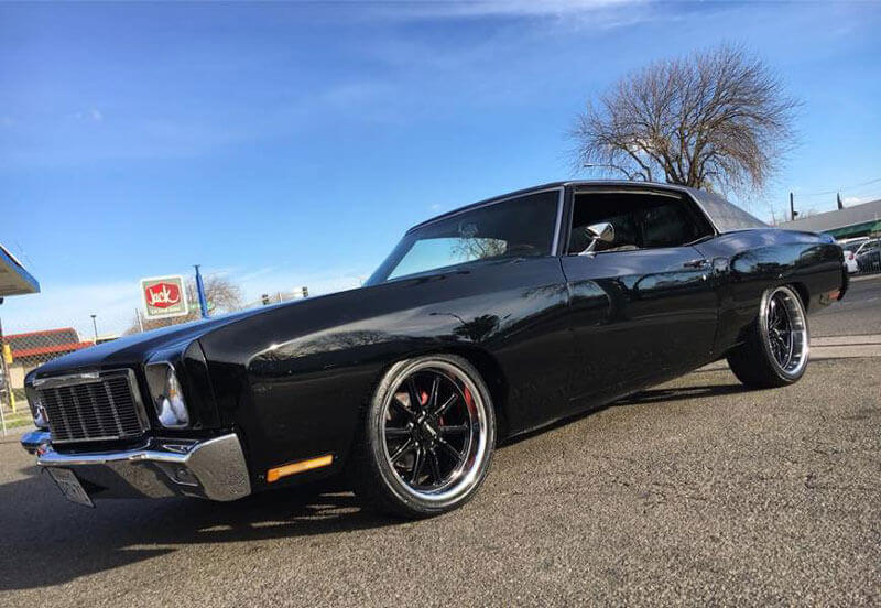 """20"""" American Racing Wheels VN507 Rodder Gloss Black with Machined Lip Rims"""