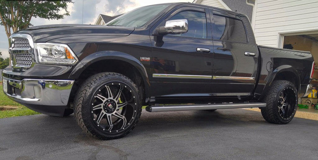 "20"" American Truxx Wheels AT-162 Vortex Black Machined Off-Road Rims"