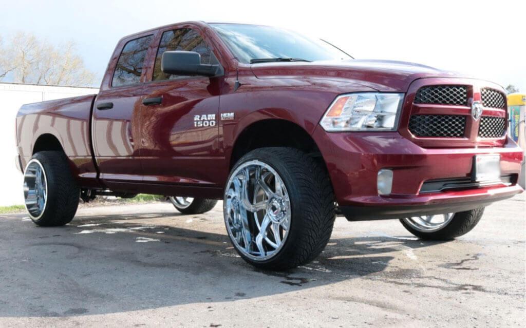 24 Quot American Truxx Wheels At 162 Vortex Chrome Off Road