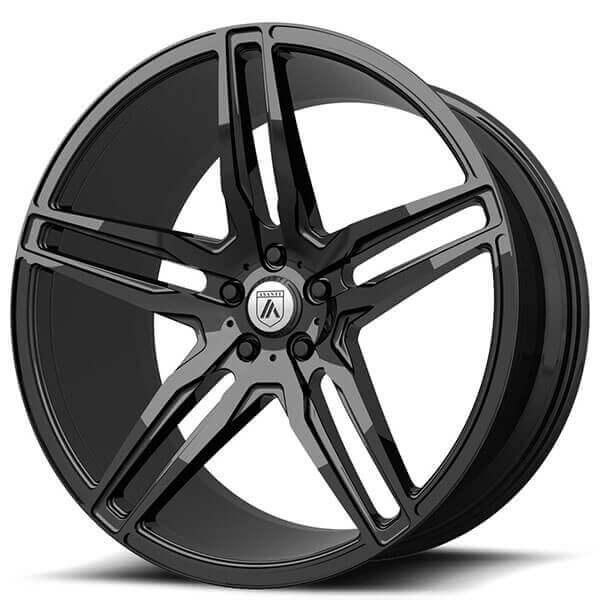"20"" Asanti Wheels ABL-12 Orion Gloss Black Rims"