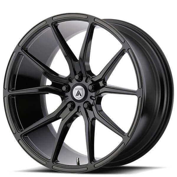 "20"" Staggered Asanti Wheels ABL-13 Vega Gloss Black Rims"