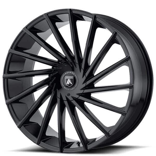 """20"""" Asanti Wheels ABL-18 Matar Gloss Black Rims"""