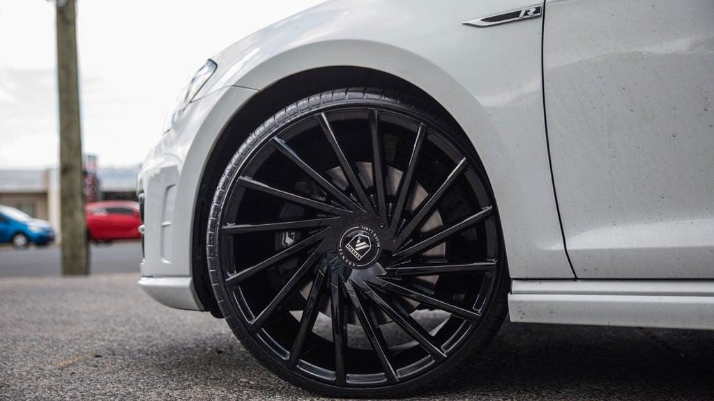 """22"""" Asanti Wheels ABL-18 Matar Gloss Black Rims"""