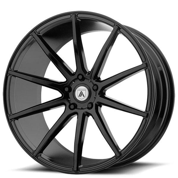 "20"" Asanti Wheels ABL-20 Aries Gloss Black Rims"