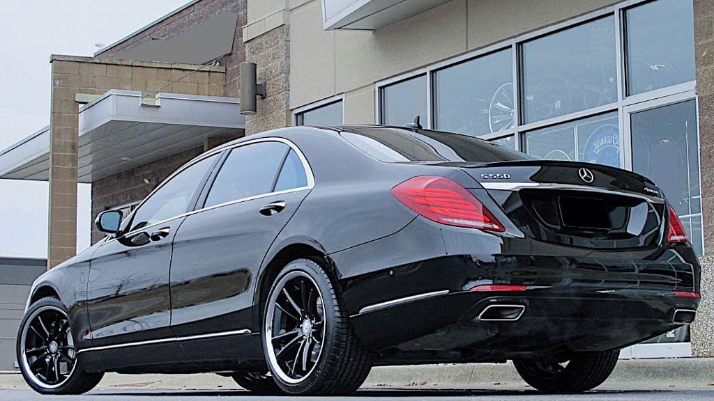 "20"" Staggered Asanti Wheels ABL-23 Sigma Gloss Black with Chrome Lip Rims"